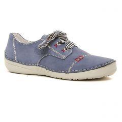 Chaussures femme été 2021 - tennis rieker bleu jean