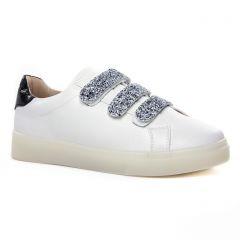 tennis-plateforme blanc argent: même style de chaussures en ligne pour femmes que les Tamaris