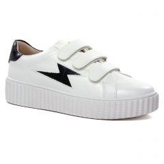 tennis-plateforme blanc noir: même style de chaussures en ligne pour femmes que les Vanessa Wu
