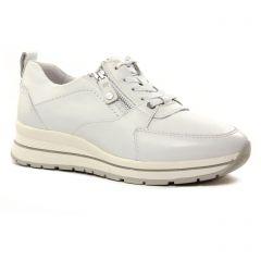 Chaussures femme été 2021 - baskets plateforme tamaris blanc