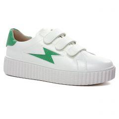 tennis-plateforme blanc vert: même style de chaussures en ligne pour femmes que les Vanessa Wu