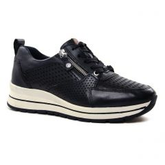 Chaussures femme été 2021 - baskets plateforme tamaris marine