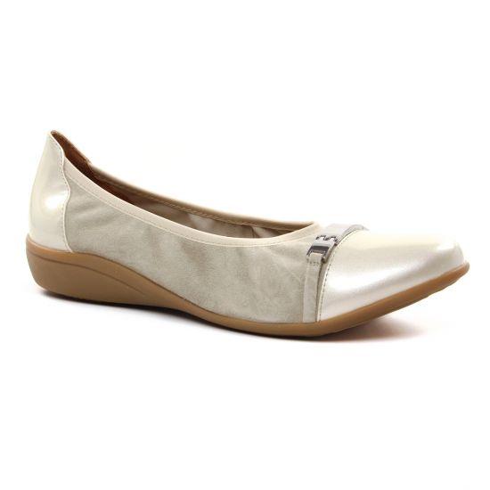 Ballerines Emilie Karston Clams Craie, vue principale de la chaussure femme