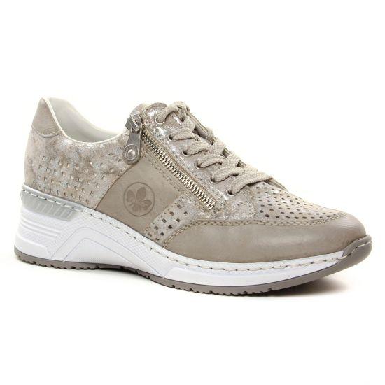 Tennis Et Baskets Mode Rieker N4327-80 Ice Rose, vue principale de la chaussure femme