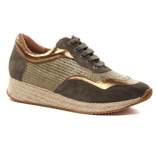 Tennis Et Baskets Mode Emilie Karston Secco Dark Kaki, vue principale de la chaussure femme