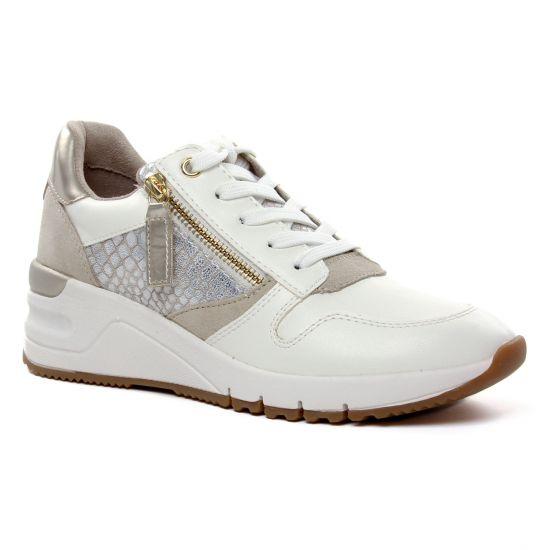 Tennis Et Baskets Mode Tamaris 23702 Wht Lt Gold Co, vue principale de la chaussure femme