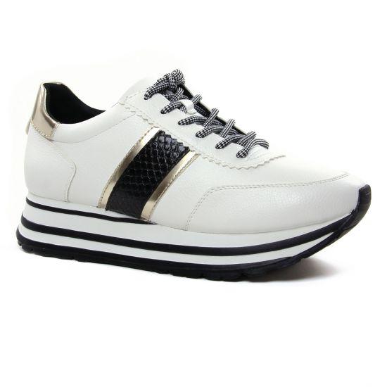 Tennis Et Baskets Mode Tamaris 23737 White Black, vue principale de la chaussure femme