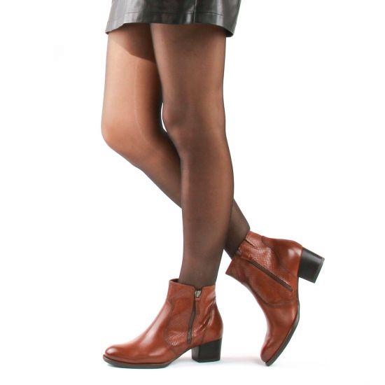 Chaussures femme été 2021 - boots tamaris marron