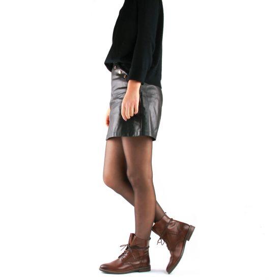 Chaussures femme été 2021 - bottines à lacets marco tozzi marron