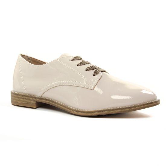 Chaussures À Lacets Tamaris 23203 Cream Patent, vue principale de la chaussure femme