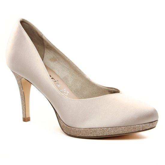 Escarpins Tamaris 22408 Champagne Comb, vue principale de la chaussure femme