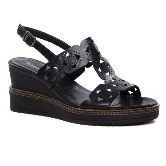 Nu Pieds Et Sandales Tamaris 28332 Black, vue principale de la chaussure femme