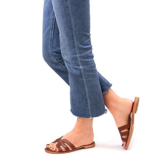 Chaussures femme été 2021 - mules les tropéziennes marron