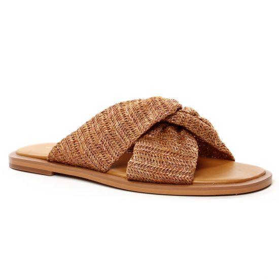 Nu Pieds Et Sandales Vanessa Wu Sd 2223 E20 Camel, vue principale de la chaussure femme