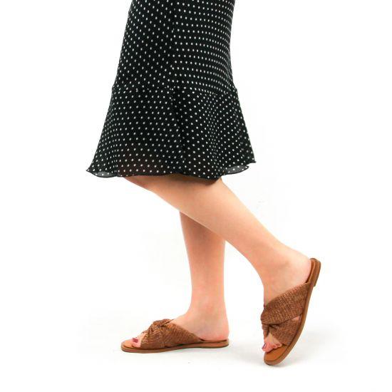 Chaussures femme été 2021 - mules Vanessa Wu marron