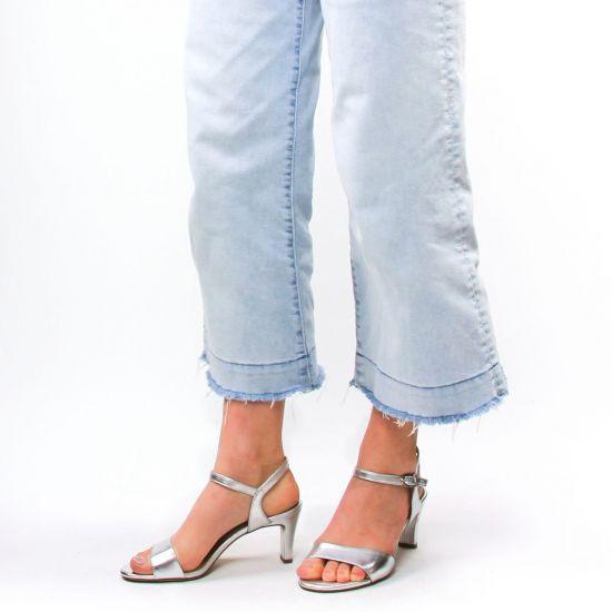 Chaussures femme été 2021 - nu-pieds talons hauts tamaris gris argent