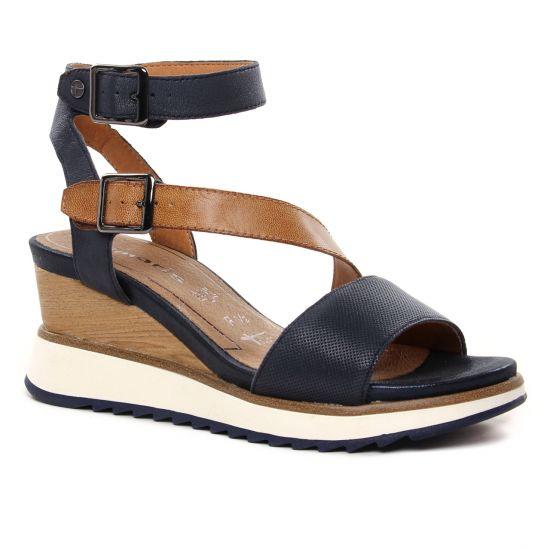 Nu Pieds Et Sandales Tamaris 28021 Navy Nut, vue principale de la chaussure femme