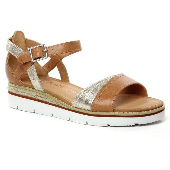 Nu Pieds Et Sandales Emilie Karston Kilgum Ambre, vue principale de la chaussure femme