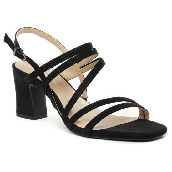 Nu Pieds Et Sandales Tamaris 28353 Black Suede, vue principale de la chaussure femme