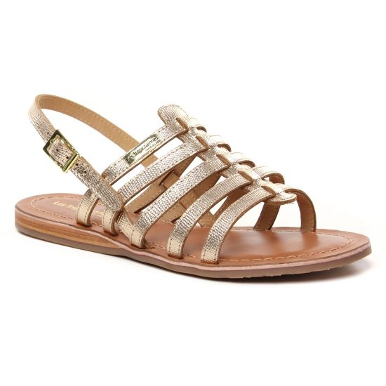 Nu Pieds Et Sandales Les Tropeziennes Havapo Or Lezard, vue principale de la chaussure femme
