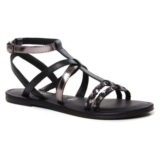 Nu Pieds Et Sandales Tamaris 28131 Black Pewter, vue principale de la chaussure femme