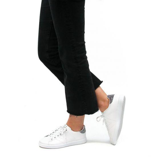 Chaussures femme été 2021 - tennis Victoria blanc argent
