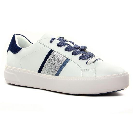 Tennis Et Baskets Mode Tamaris 23750 White Jeans, vue principale de la chaussure femme