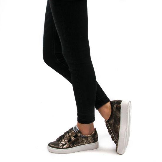 Chaussures femme été 2021 - tennis Semerdjian marron bronze
