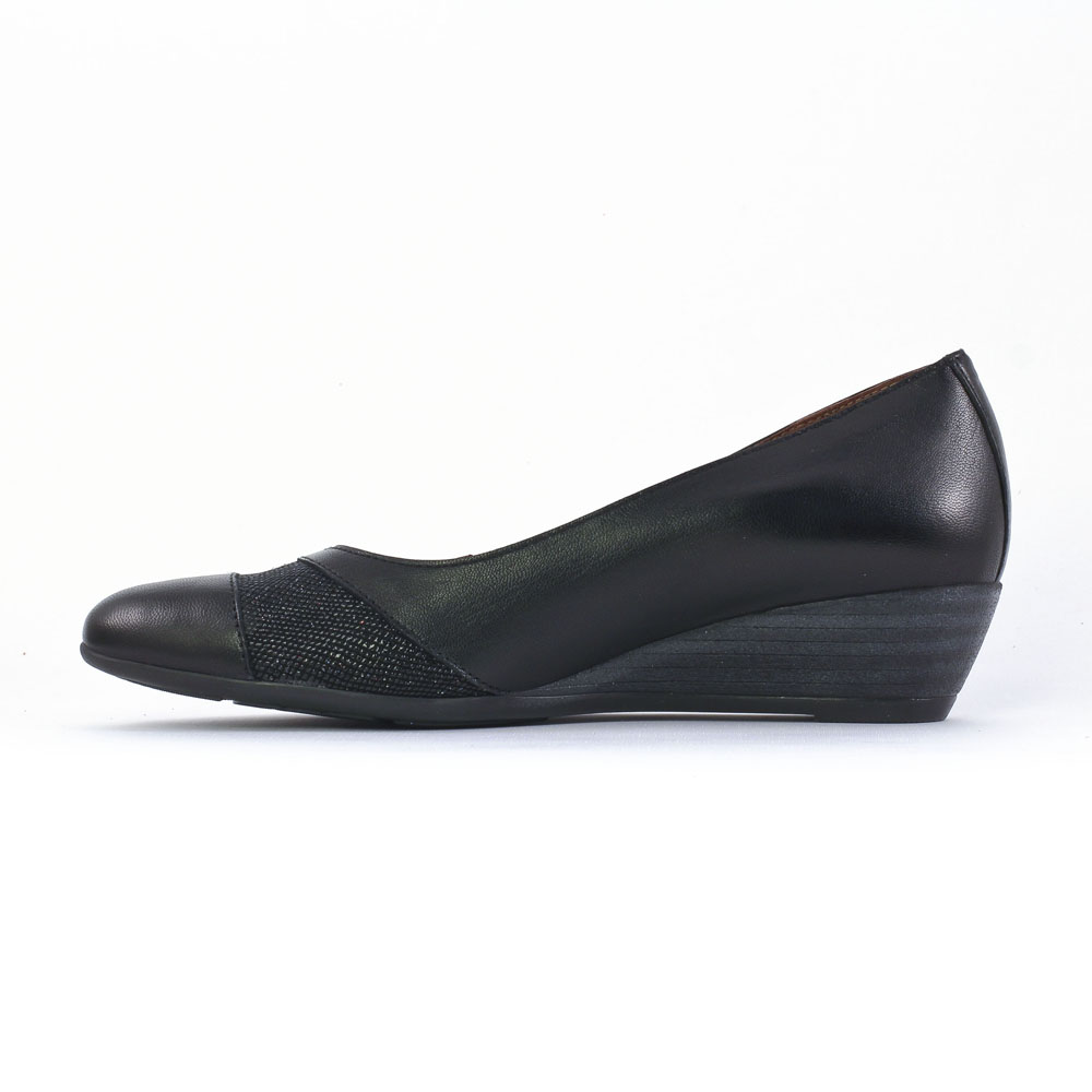 chaussures ballerines compensees noires femme. Black Bedroom Furniture Sets. Home Design Ideas