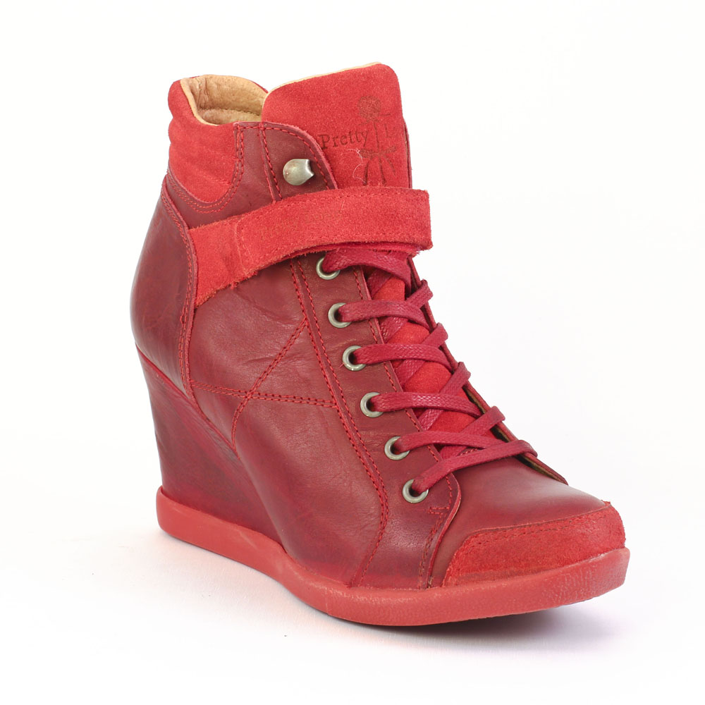 bfb559bce5d6f Chaussure compensee rouge femme - Idée de chaussure