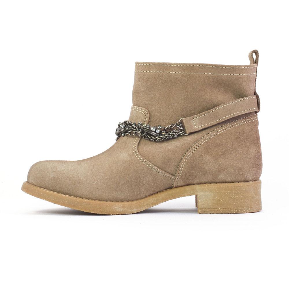 scarlatine om5608 taupe | boots beige automne hiver chez trois par 3