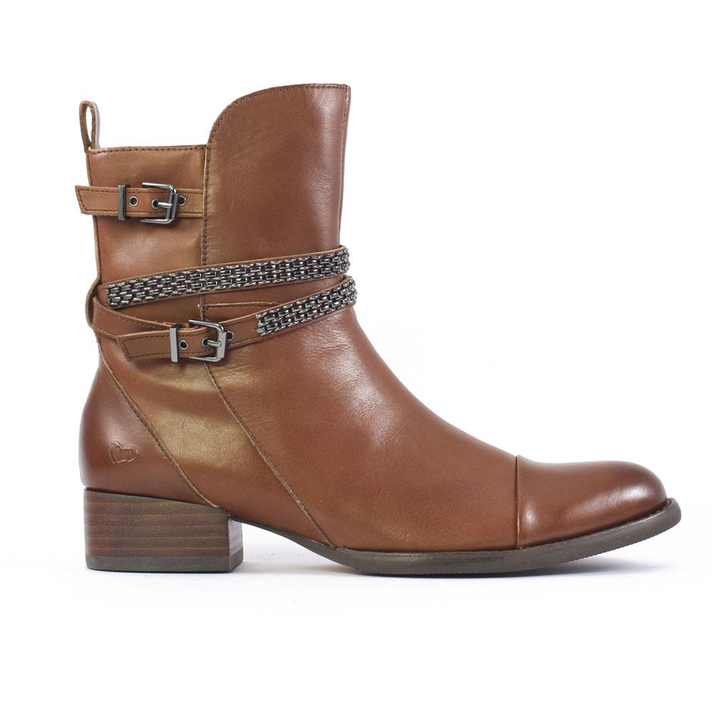 mamzelle jespa chocolat boots marron automne hiver chez trois par 3. Black Bedroom Furniture Sets. Home Design Ideas
