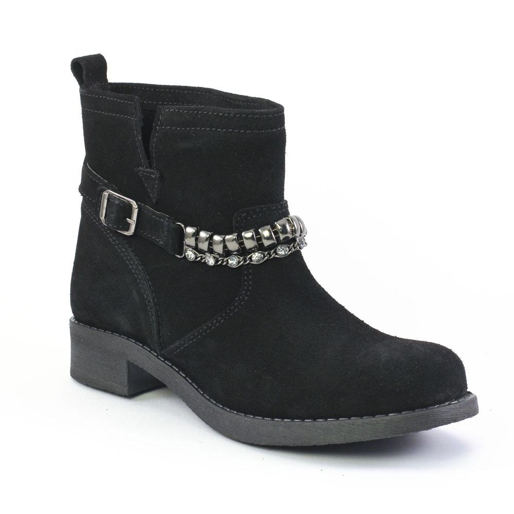 scarlatine om5608 noir boots noir automne hiver chez trois par 3. Black Bedroom Furniture Sets. Home Design Ideas