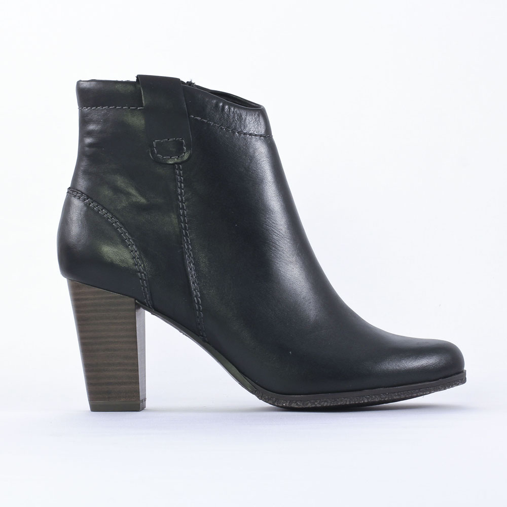 marco tozzi 25385 black boot talon noir automne hiver. Black Bedroom Furniture Sets. Home Design Ideas