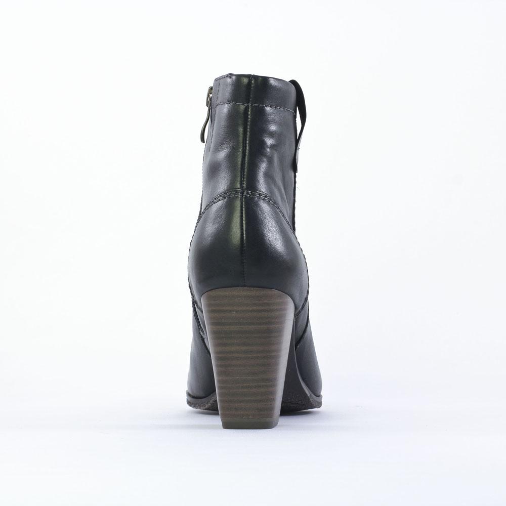 marco tozzi 25385 black boot talon noir automne hiver chez trois par 3. Black Bedroom Furniture Sets. Home Design Ideas