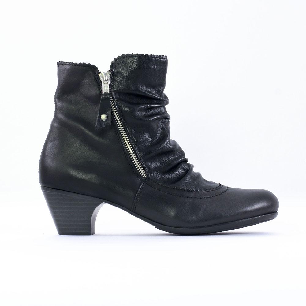 rieker 70566 noir boot talon noir automne hiver chez. Black Bedroom Furniture Sets. Home Design Ideas