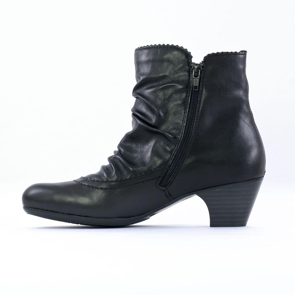 rieker 70566 noir boot talon noir automne hiver chez trois par 3. Black Bedroom Furniture Sets. Home Design Ideas