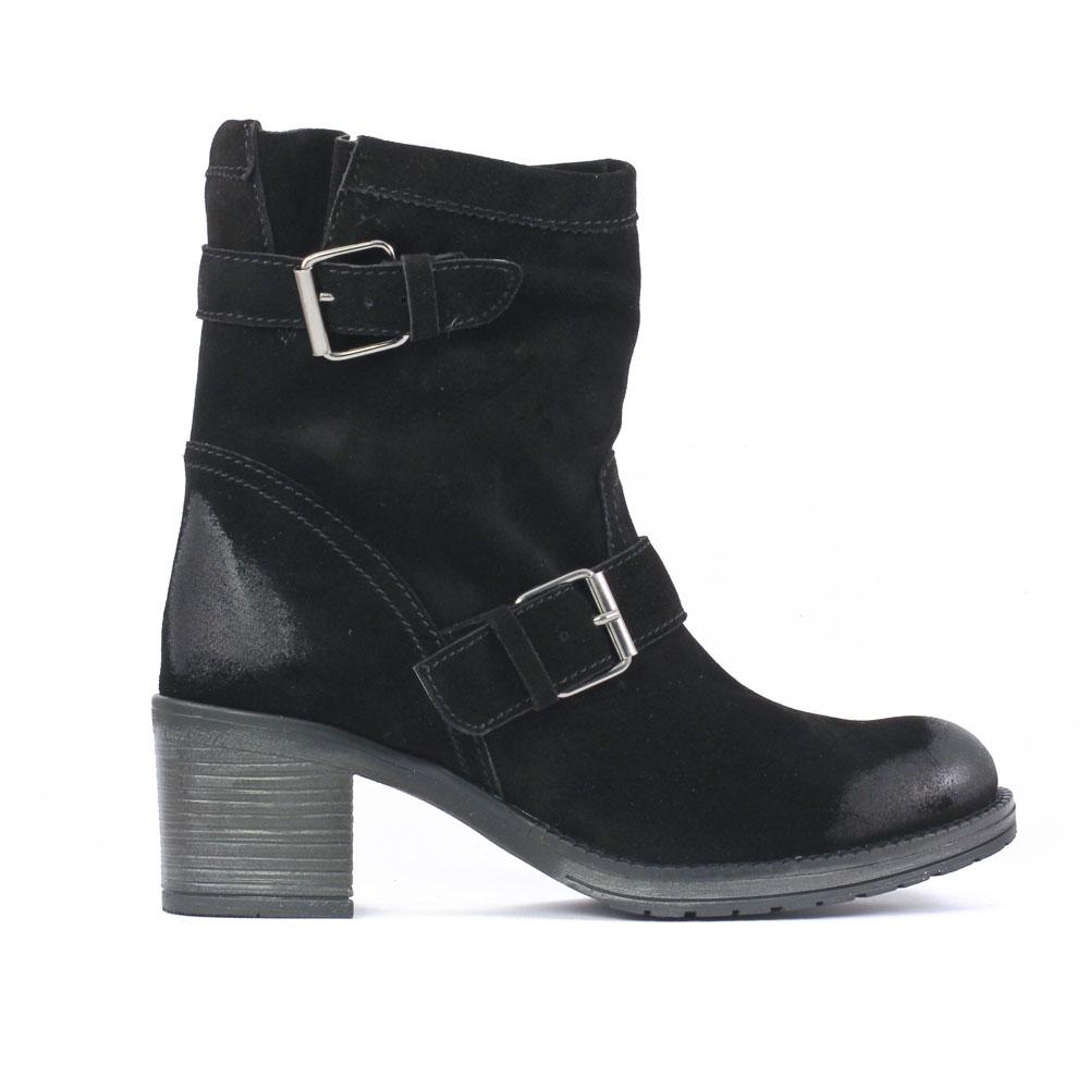 scarlatine co7851 noir boot talon noir automne hiver chez trois par 3. Black Bedroom Furniture Sets. Home Design Ideas