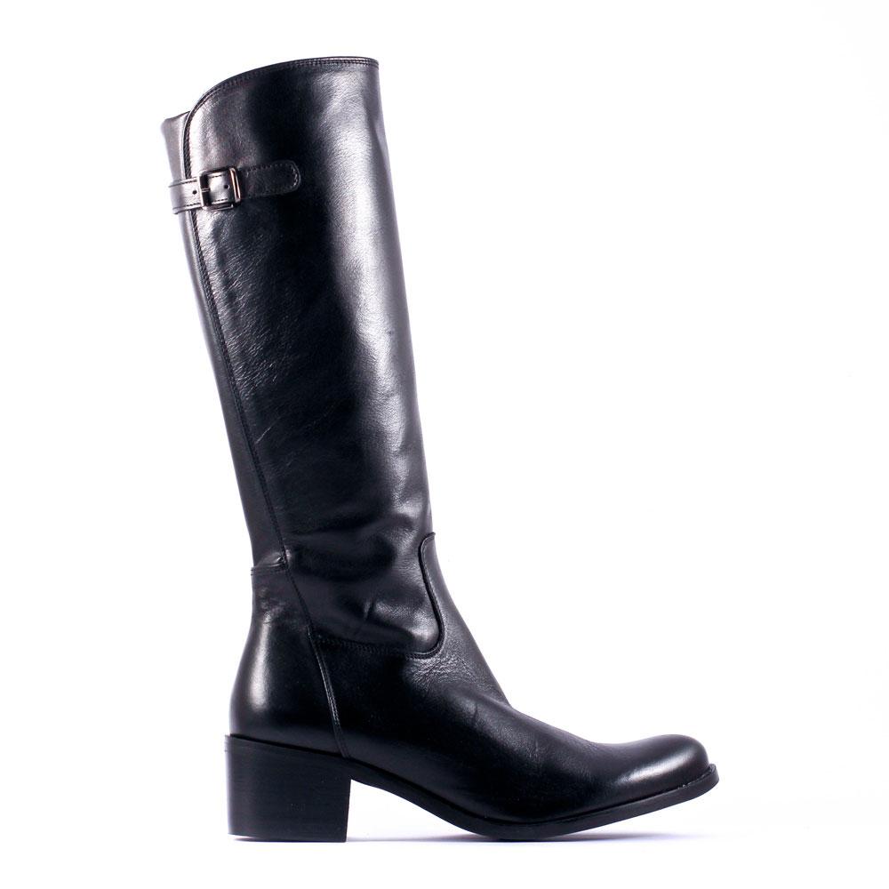 Bottines noires en cuir pour femmes YDVOytxA8