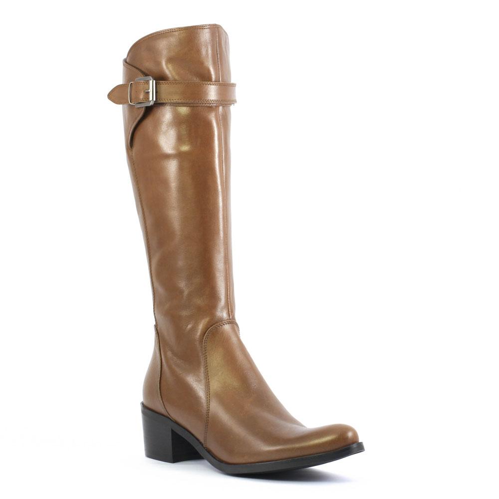 f15ded0cdbb bottes talon marron mode femme automne hiver vue 1