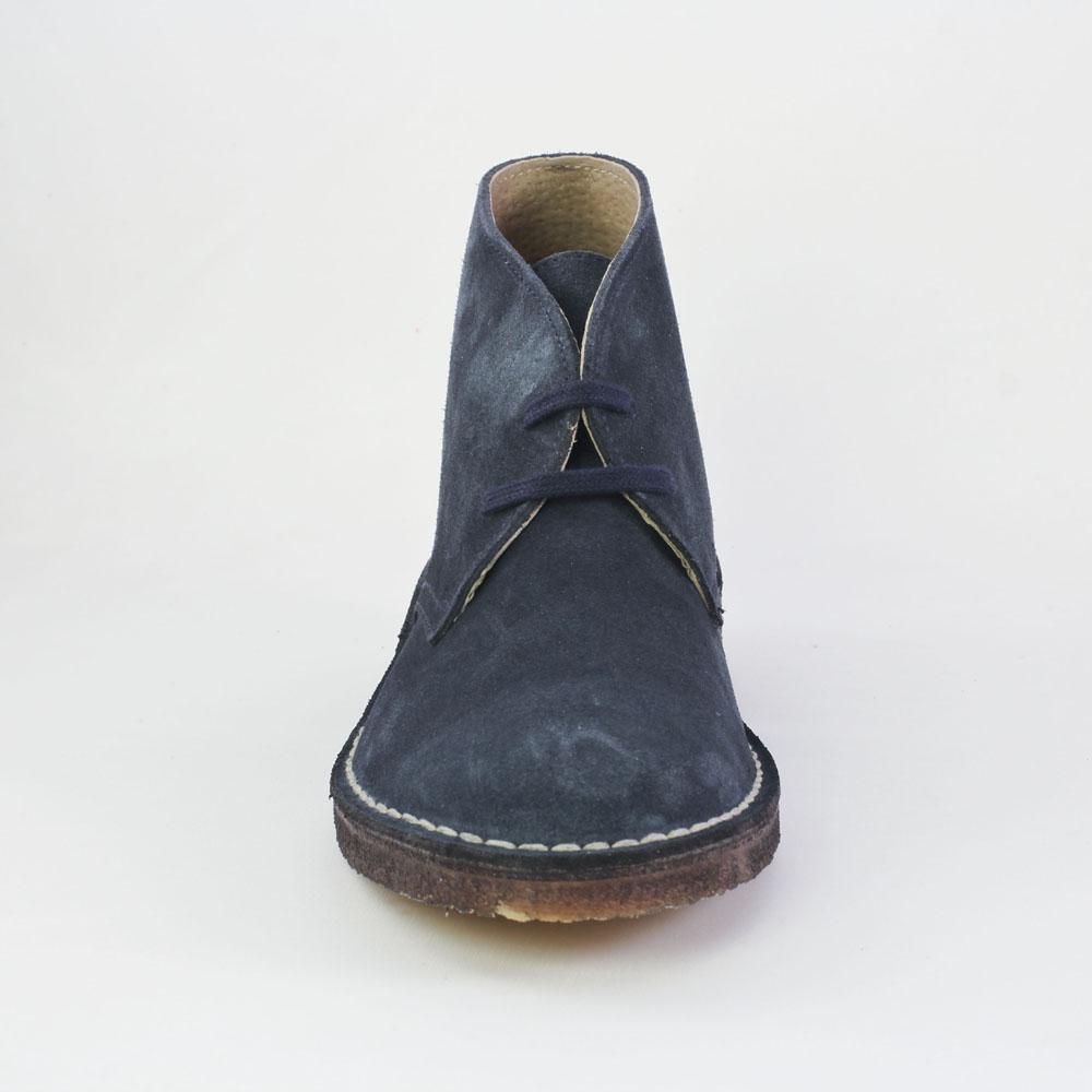 scarlatine garrison marine bottine lacets bleu marine automne hiver chez trois par 3. Black Bedroom Furniture Sets. Home Design Ideas
