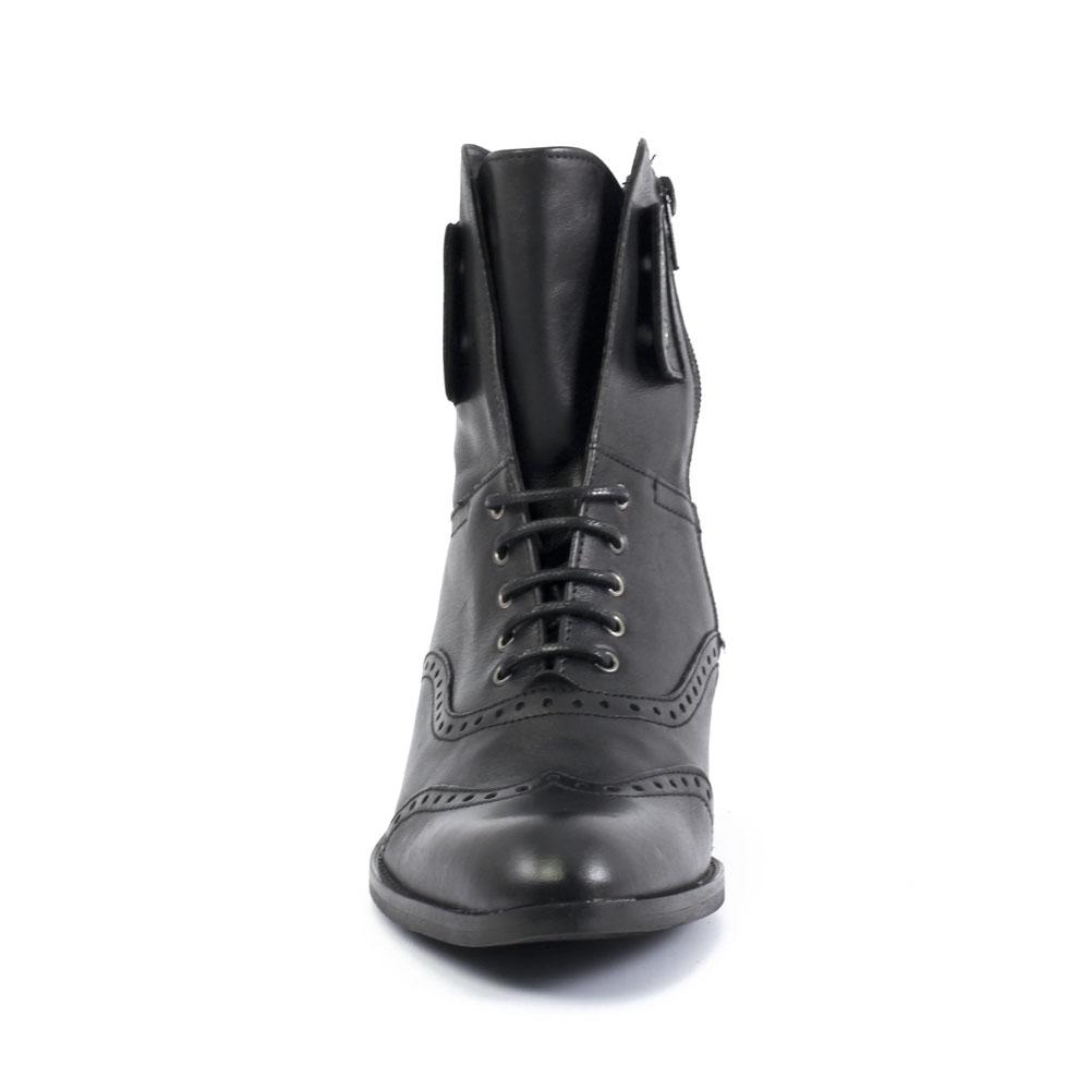 5a763a75678 bottines à lacets noir mode femme automne hiver vue 6
