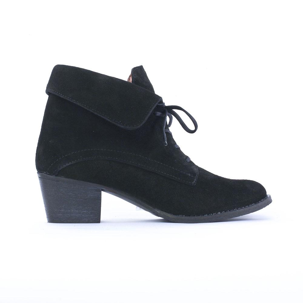 bottines lacets noir mode femme automne hiver vue 2. Black Bedroom Furniture Sets. Home Design Ideas