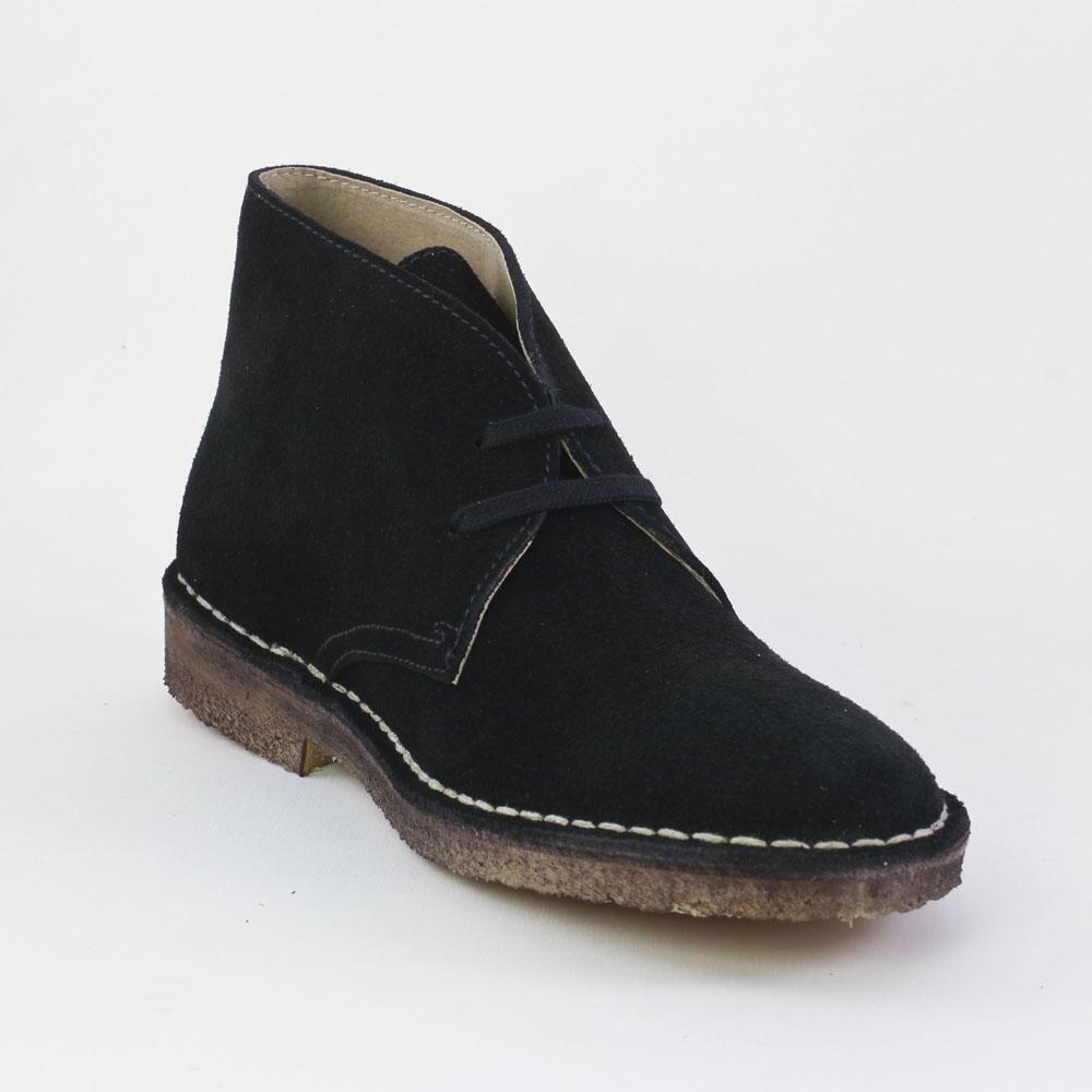 scarlatine garrison noir | bottine à lacets noir automne hiver