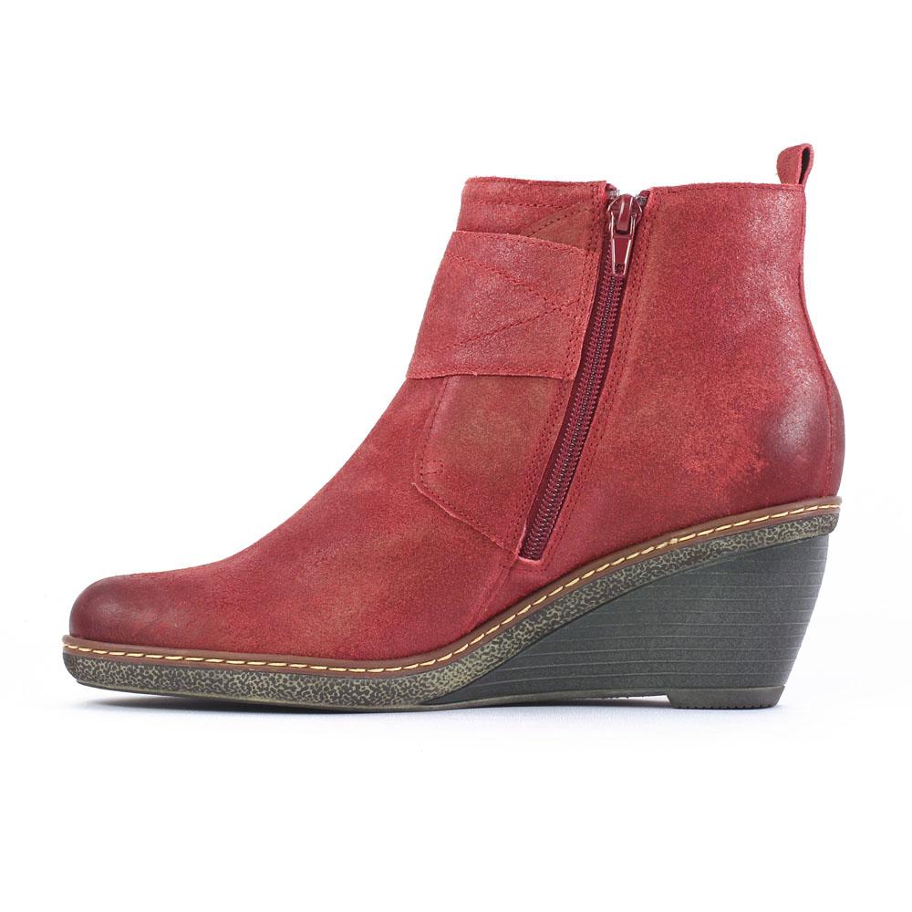 chaussures bottines rouges femme. Black Bedroom Furniture Sets. Home Design Ideas