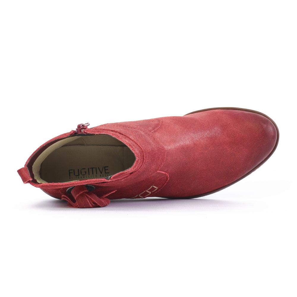 fugitive mores rouge | bottine compensées rouge automne hiver chez