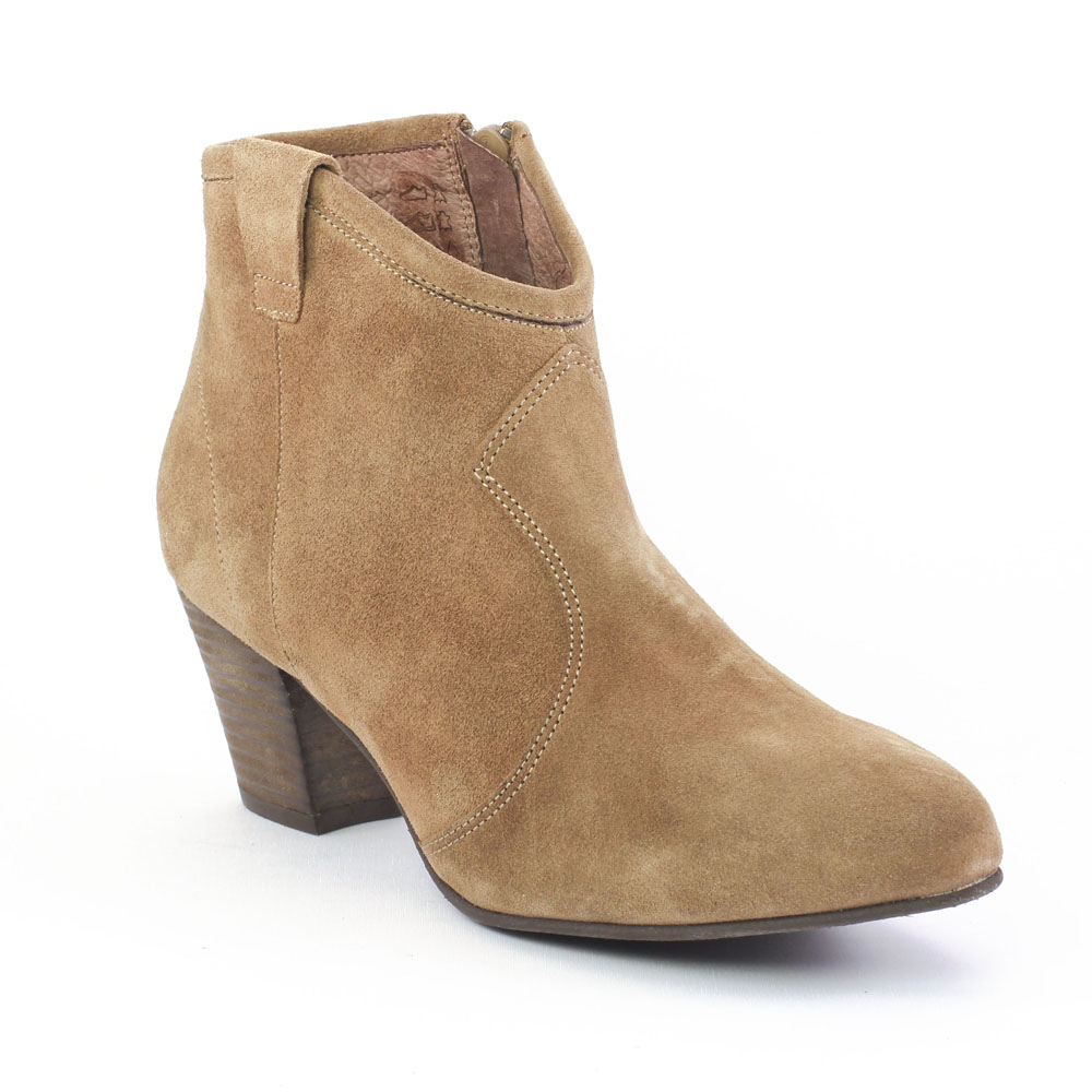 bottines femme cuir marron talon 5 cm