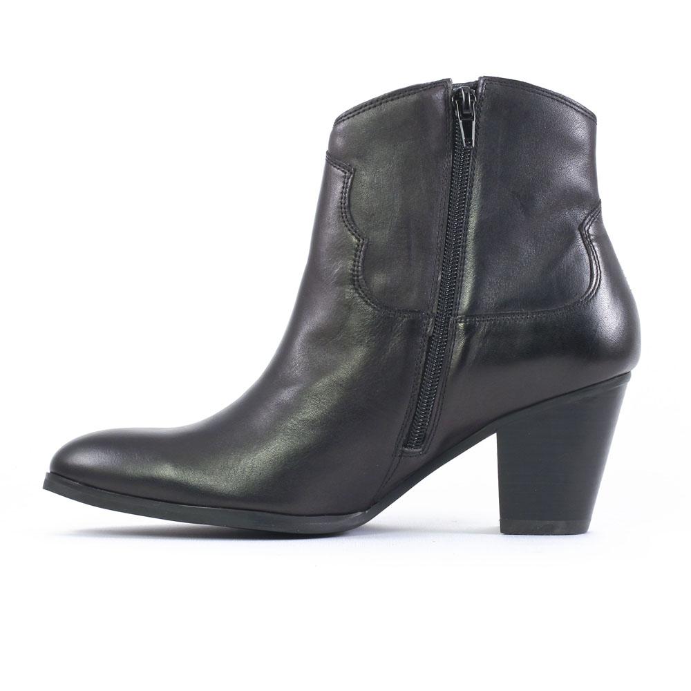 bottes cuir noir femme talon. Black Bedroom Furniture Sets. Home Design Ideas