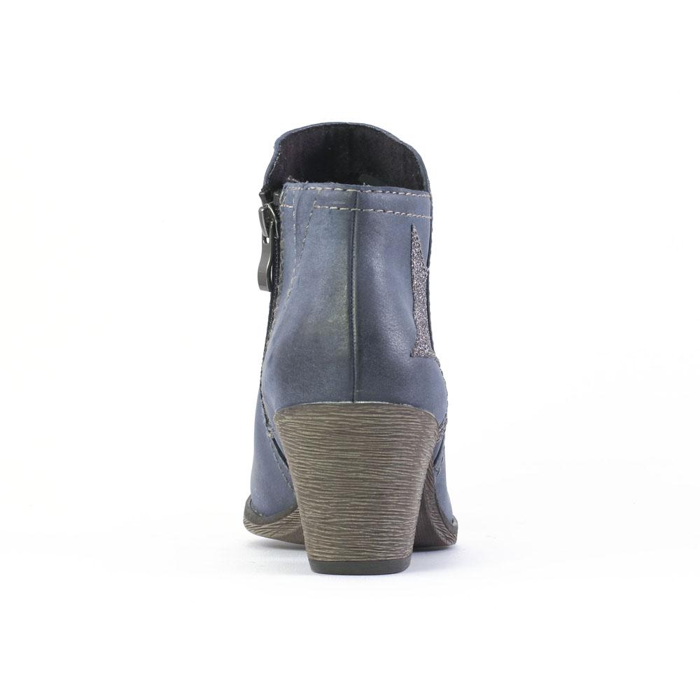 marco tozzi 25319 navy low boots bleu automne hiver chez trois par 3. Black Bedroom Furniture Sets. Home Design Ideas