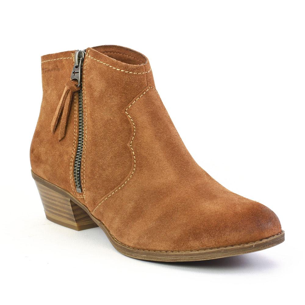 tamaris 25315 muscat low boots marron automne hiver chez trois par 3. Black Bedroom Furniture Sets. Home Design Ideas